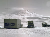 Research camp on the sea ice of McMurdo Sound circa 1970